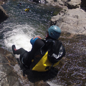 Canyoning dans le Rieutort